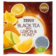 Tesco Lemon & Honey Herbata czarna 40 g (20 torebek)