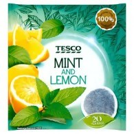 Tesco Mint and Lemon Herbatka ziołowa 40 g (20 torebek)