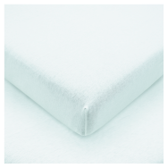 F&F Basics Plain Fitted Sheet - White 100x200