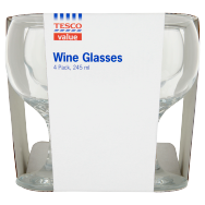 F&F Home Basics Wine Glasses 4pk